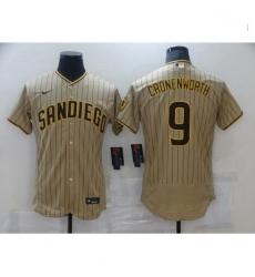 Men Nike San Diego Padres 9 Jake Cronenworth Sand Brown 2021 Road Player Jersey