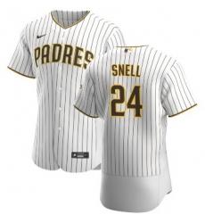 Men San Diego Padres 24 Blake Snell Flexbase White Jersey