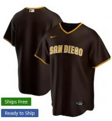 Men San Diego Padres Nike Brown Blank Jersey II