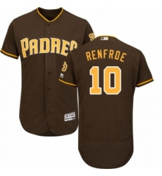 Mens Majestic San Diego Padres 10 Hunter Renfroe Brown Alternate Flex Base Authentic Collection MLB Jersey