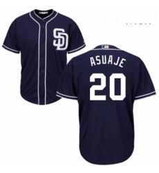 Mens Majestic San Diego Padres 20 Carlos Asuaje Replica Navy Blue Alternate 1 Cool Base MLB Jersey