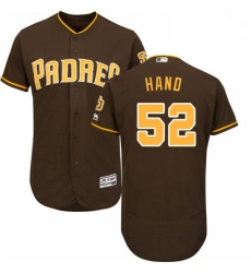 Mens Majestic San Diego Padres 52 Brad Hand Brown Flexbase Authentic Collection MLB Jersey