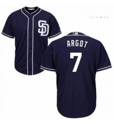 Mens Majestic San Diego Padres 7 Manuel Margot Replica Navy Blue Alternate 1 Cool Base MLB Jersey