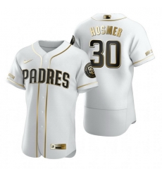 San Diego Padres 30 Eric Hosmer White Nike Mens Authentic Golden Edition MLB Jersey