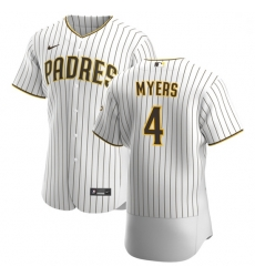 San Diego Padres 4 Wil Myers Men Nike White Brown Home 2020 Authentic Player Jersey