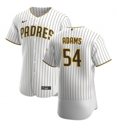 San Diego Padres 54 Austin Adams Men Nike White Brown Home 2020 Authentic Player Jersey