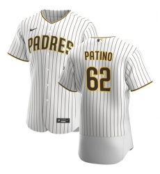 San Diego Padres 62 Luis Patino Men Nike White Brown Home 2020 Authentic Player Jersey