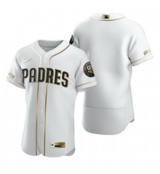San Diego Padres Blank White Nike Mens Authentic Golden Edition MLB Jersey