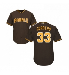 Youth San Diego Padres 33 Franchy Cordero Replica Brown Alternate Cool Base Baseball Jersey