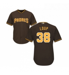 Youth San Diego Padres 38 Aaron Loup Replica Brown Alternate Cool Base Baseball Jersey