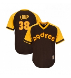 Youth San Diego Padres 38 Aaron Loup Replica Brown Alternate Cooperstown Cool Base Baseball Jersey
