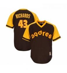 Youth San Diego Padres 43 Garrett Richards Replica Brown Alternate Cooperstown Cool Base Baseball Jersey