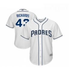 Youth San Diego Padres 43 Garrett Richards Replica White Home Cool Base Baseball Jersey
