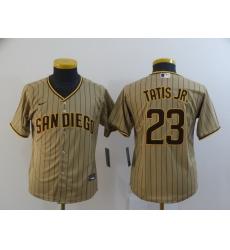 Youth San Diego Padres Fernando Tatis Jr 23 Brown Nike 2020 Cool Base Jersey