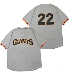 Men San Francisco Giants 22 Andrew McCutchen Gray Throwback Jersey