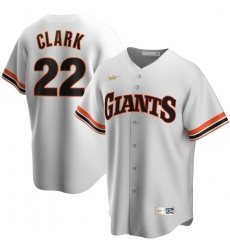 Men San Francisco Giants 22 Will Clark Nike Home Cooperstown Collection Player MLB Jersey White