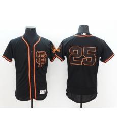 Men San Francisco Giants 25 Barry Bonds Black Flex Base 2021 Nike MLB Jersey