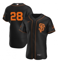 Men San Francisco Giants 28 Buster Posey Men Nike Black Alternate 2020 Flex Base Player MLB Jersey
