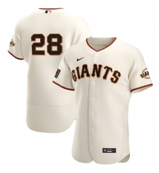 Men San Francisco Giants 28 Buster Posey Men Nike Cream Home 2020 Flex Base Player MLB Jersey