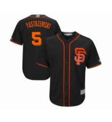 Men San Francisco Giants #5 Mike Yastrzemski Authentic Black Alternate Cool Base Baseball Player Jersey