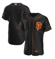 Men San Francisco Giants Men Nike Black Alternate 2020 Flex Base Team MLB Jersey