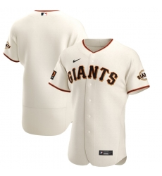 Men San Francisco Giants Men Nike Cream Home 2020 Flex Base Team MLB Jersey