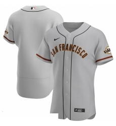 Men San Francisco Giants Men Nike Gray Road 2020 Flex Base Official Team MLB Jersey