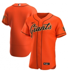 Men San Francisco Giants Men Nike Orange Alternate 2020 Flex Base Official Team MLB Jersey