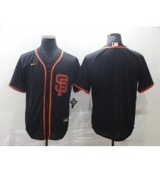 Men San Francisco Giants Nike Black Blank Jersey