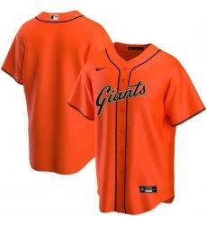 Men San Francisco Giants Nike Orange Blank Jersey