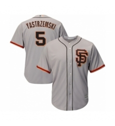 Men's San Francisco Giants #5 Mike Yastrzemski Grey Alternate Flex Base Authentic Collection Baseball Player Jersey