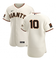 San Francisco Giants 10 Evan Longoria Men Nike Cream Home 2020 Authentic 20 at 24 Patch Player MLB Jersey