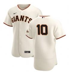 San Francisco Giants 10 Evan Longoria Men Nike Cream Home 2020 Authentic Player MLB Jersey