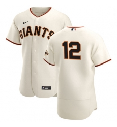 San Francisco Giants 12 Alex Dickerson Men Nike Cream Home 2020 Authentic Player MLB Jersey