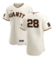 San Francisco Giants 28 Buster Posey Men Nike Cream Home 2020 Authentic 20 at 24 Patch Player MLB Jersey