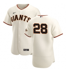San Francisco Giants 28 Buster Posey Men Nike Cream Home 2020 Authentic Player MLB Jersey