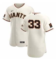 San Francisco Giants 33 Darin Ruf Men Nike Cream Home 2020 Authentic 20 at 24 Patch Player MLB Jersey