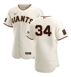 San Francisco Giants 34 Kevin Gausman Men Nike Cream Home 2020 Authentic 20 at 24 Patch Player MLB Jersey
