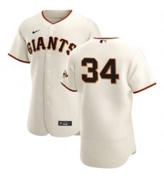 San Francisco Giants 34 Kevin Gausman Men Nike Cream Home 2020 Authentic Player MLB Jersey