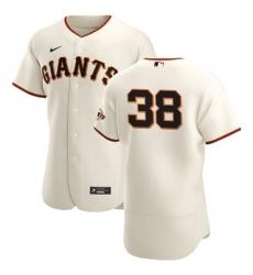 San Francisco Giants 38 Tyler Beede Men Nike Cream Home 2020 Authentic Player MLB Jersey
