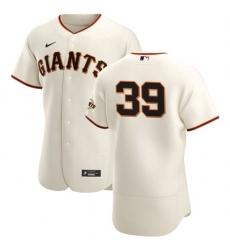 San Francisco Giants 39 Rico Garcia Men Nike Cream Home 2020 Authentic Player MLB Jersey