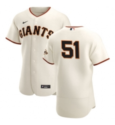 San Francisco Giants 51 Conner Menez Men Nike Cream Home 2020 Authentic Player MLB Jersey