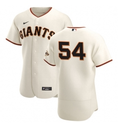 San Francisco Giants 54 Reyes Moronta Men Nike Cream Home 2020 Authentic Player MLB Jersey