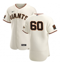 San Francisco Giants 60 Wandy Peralta Men Nike Cream Home 2020 Authentic 20 at 24 Patch Player MLB Jersey