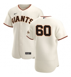 San Francisco Giants 60 Wandy Peralta Men Nike Cream Home 2020 Authentic Player MLB Jersey