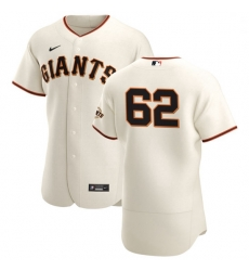 San Francisco Giants 62 Logan Webb Men Nike Cream Home 2020 Authentic Player MLB Jersey