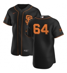 San Francisco Giants 64 Shaun Anderson Men Nike Black Alternate 2020 Authentic 20 at 24 Patch Player MLB Jersey