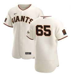 San Francisco Giants 65 Sam Coonrod Men Nike Cream Home 2020 Authentic 20 at 24 Patch Player MLB Jersey