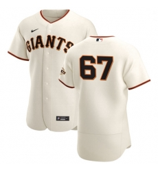 San Francisco Giants 67 Sam Selman Men Nike Cream Home 2020 Authentic Player MLB Jersey