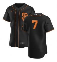 San Francisco Giants 7 Donovan Solano Men Nike Black Alternate 2020 Authentic Player MLB Jersey